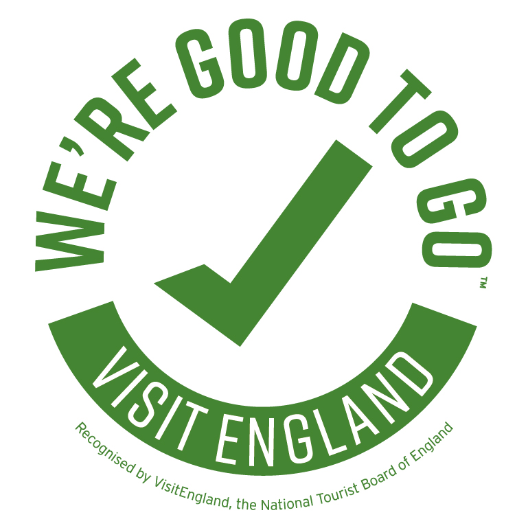 Logo for Good to Go - we have passed our health checks for Covid!